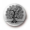 Button - Tree of Life - Antique Silver