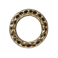 13mm Hammertone Ring - Brass Ox