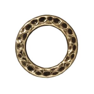 13mm Hammertone Ring - Brass Ox
