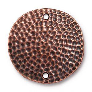 """1"""" Hammertone Disk Link - Ant. Copper"""