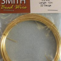 22 Gage Gold Bead Smith Wire