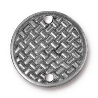 "3/4"" Woven Disk Link - Ant. Pewter"