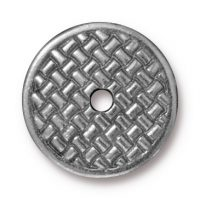 "3/4"" Woven Disk - Ant. Pewter"