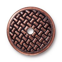 "3/4"" Woven Disk - Ant. Copper"