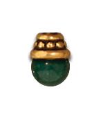 4mm Beaded Bead Cap - Antique Gold