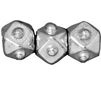 4mm Faceted Cubes - Rhodium