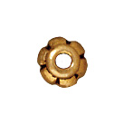 4mm Scalloped Bead Cap - Antique Gold