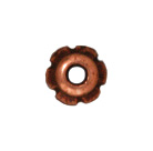 4mm Scalloped Bead Cap - Antique Copper