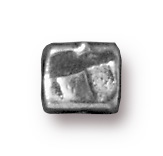 4mm Small Rock & Roll Cube - Antique Pewter