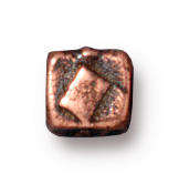 4mm Small Rock & Roll Cube - Antique Copper