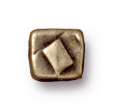 4mm Small Rock & Roll Cube - Brass Ox