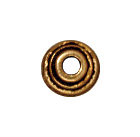 4mm Stepped Bead Cap - Antique Gold