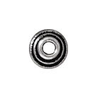 4mm Stepped Bead Cap - Antique Silver