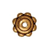 5mm Beaded Bead Cap - Antique Gold
