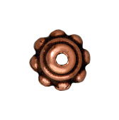 5mm Beaded Bead Cap - Antique Copper