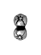 5mm Four Flowers - Antique Silver