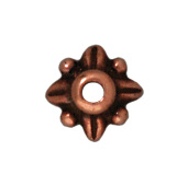 5mm Leaf Bead Cap - Antique Copper