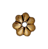 5mm Petal Bead Cap - Antique Gold