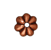 5mm Petal Bead Cap - Antique Copper