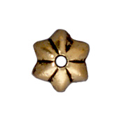 5mm Talavera Star Bead Cap - Ant. Gold