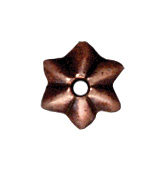 5mm Talavera Star Bead Cap - Ant. Copper