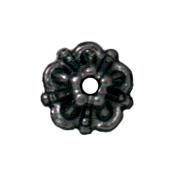 5mm Tiffany Bead Cap - Black