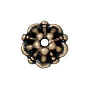 5mm Tiffany Bead Cap - Brass Ox