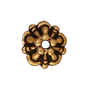 5mm Tiffany Bead Cap - Antique Gold