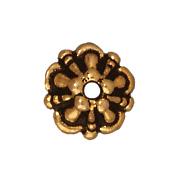 5mm Tiffany Bead Cap - Antique Gold