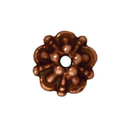 5mm Tiffany Bead Cap - Antique Copper
