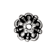 5mm Tiffany Bead Cap - Antique Silver