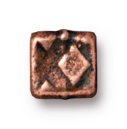 6mm Small Rock & Roll Cube - Antique Copper