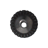 7mm Crown Bead Cap - Black