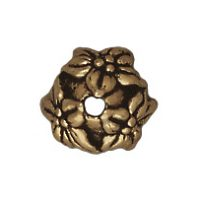 7mm Jasmine Bead Cap - Brass Ox
