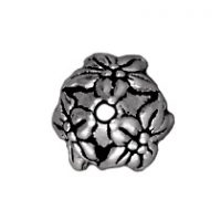 7mm Jasmine Bead Cap - Antique Silver