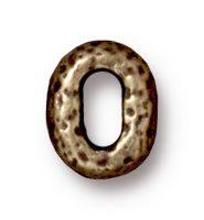 8x6mm Distressed Oval - Brass Ox