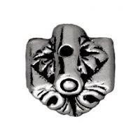 9mm Luna Pendant Bead Cap - Ant. Silver