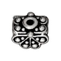 9mm Raja Pendant Bead Cap - Ant. Silver