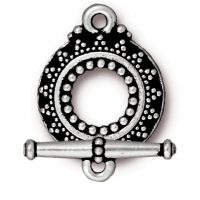 Bali Toggle - Silver Plated