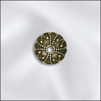 Bead Cap - 7mm - Ant. Brass Scallop