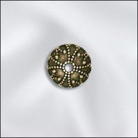 Bead Cap - 7mm - Ant. Brass Scallop