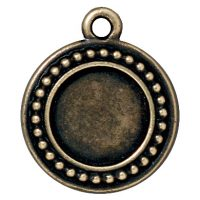 Beaded Round Frame - Brass Oxide
