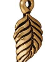Birch Leaf Charms - Ant. Gold