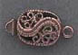 Box Clasp - Oval - Ant. Copper
