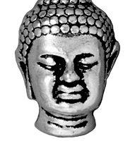 Buddha Bead - Ant. Silver