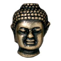 Buddha Bead - Brass Oxide