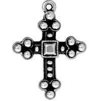 Byzantine Cross - Antique Silver