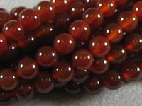 Carnelian Agate - 6mm Round