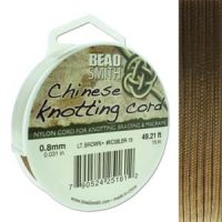 Chinese Cord - .8mm - Lt. Brown
