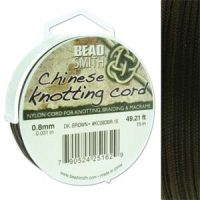 Chinese Cord - .8mm - Dk. Brown